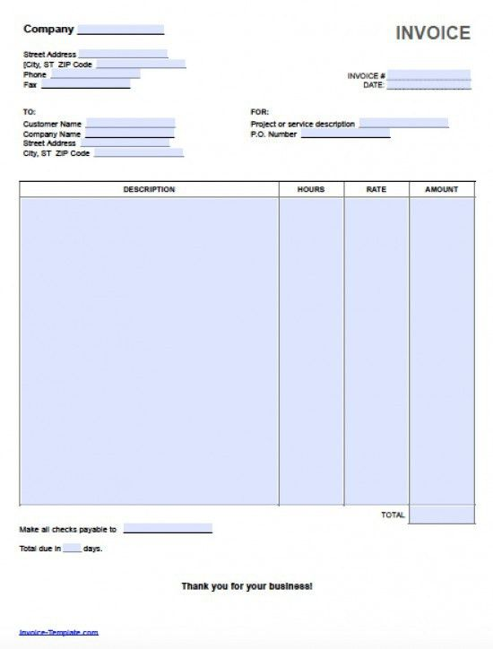 Hourly Invoice Template | invoice example