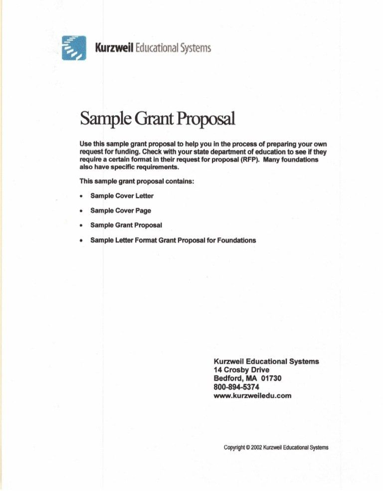 Grant Proposal Letter. Sample Grant Proposal Business Proposal ...