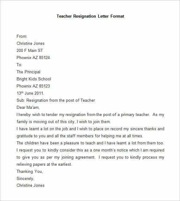 Resignation Letter : Resignation Letter Format For It Company ...
