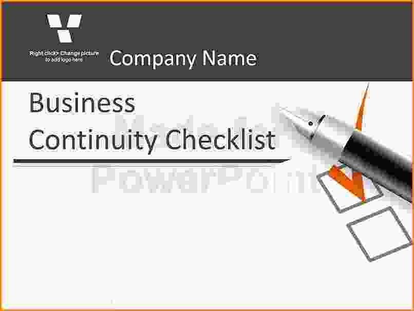 Business Plan Checklist.business Continuity Plan Checklist ...