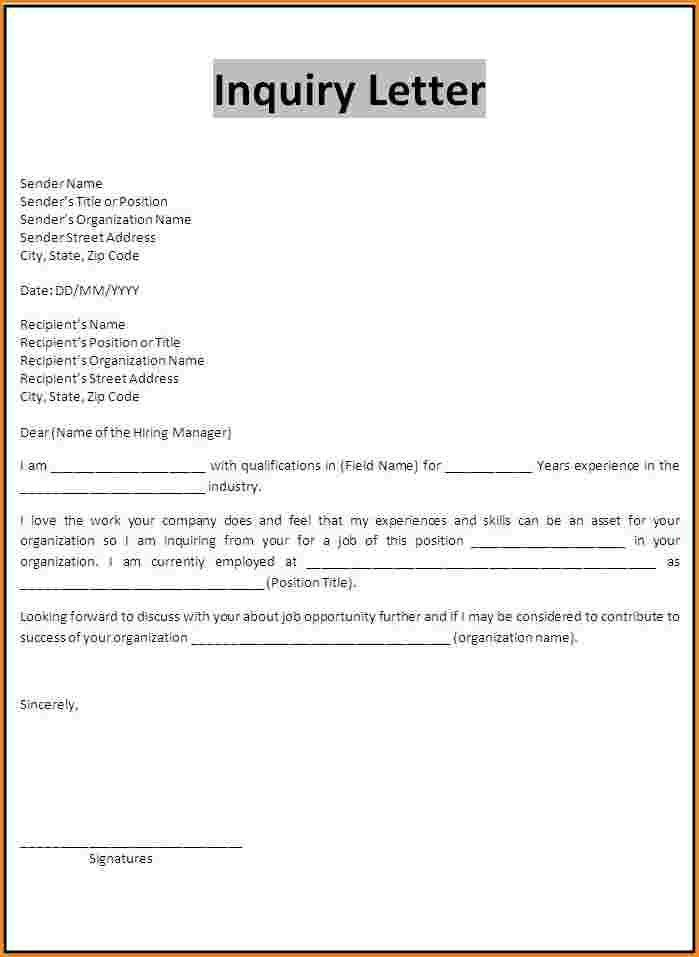 8+ example of inquiry letter about scholarship | receipts template