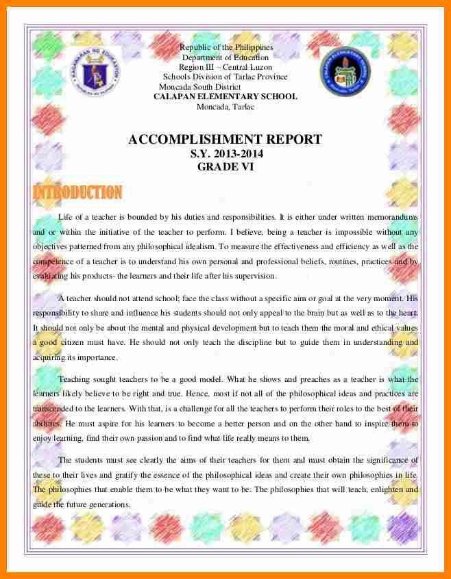 8+ narrative accomplishment report sample   job resumed