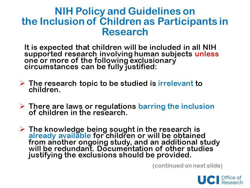 Children as Human Research Subjects Subpart D A Presentation for ...