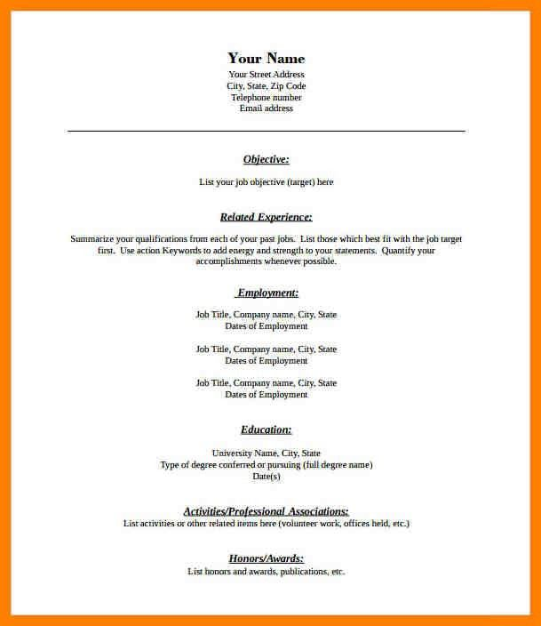 9+ blank resume formats | addressing letter