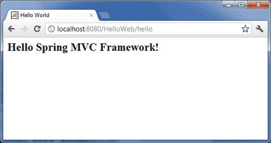 Spring MVC Hello World Example