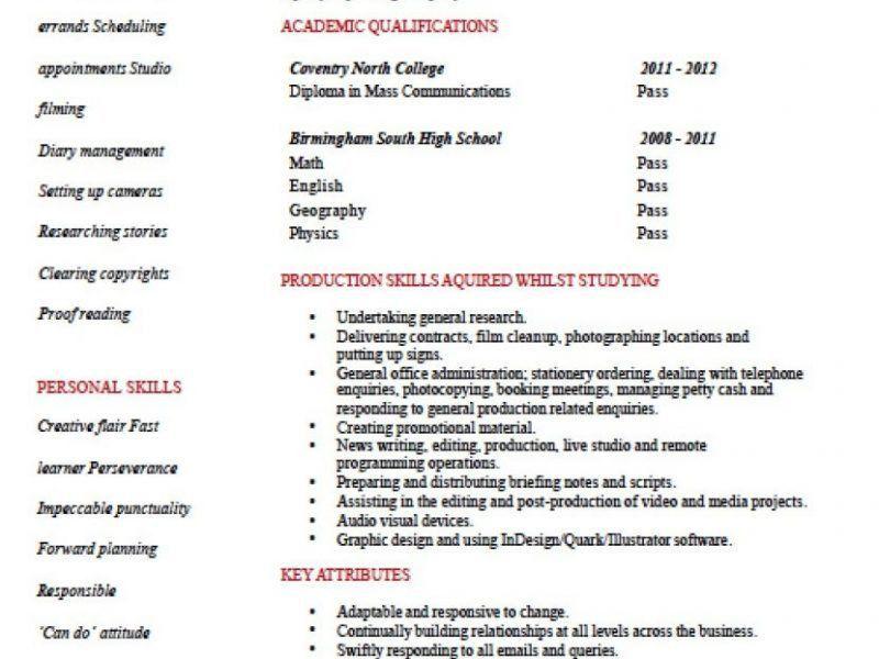 sample musician resume