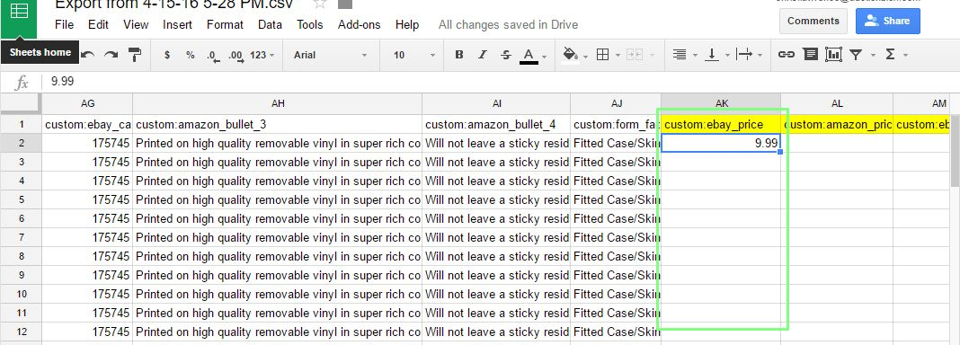 Working with Custom CSV files