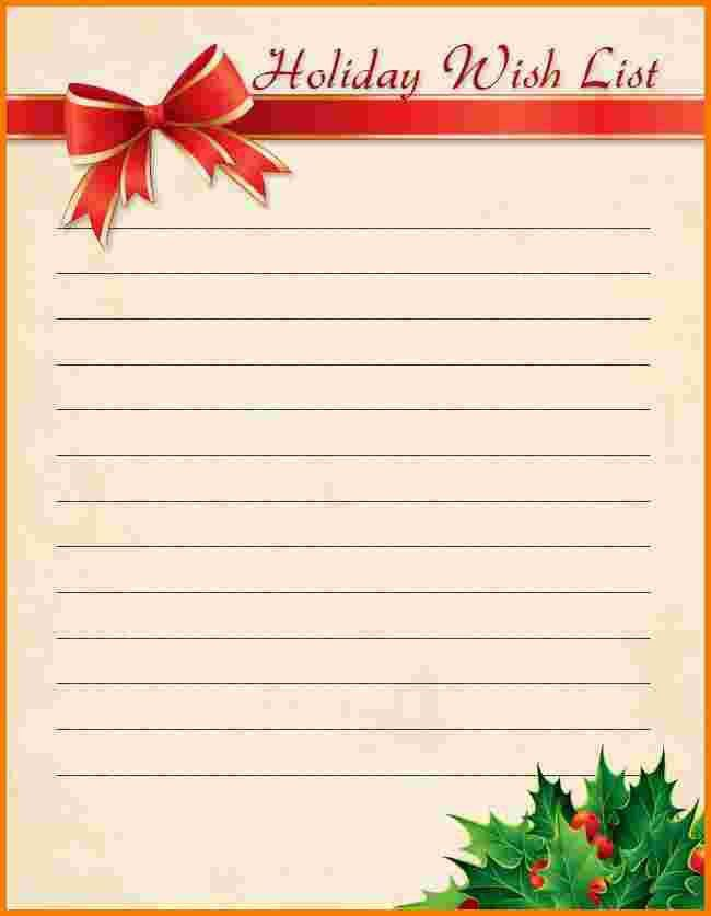5+ christmas wish list template | Receipt Templates