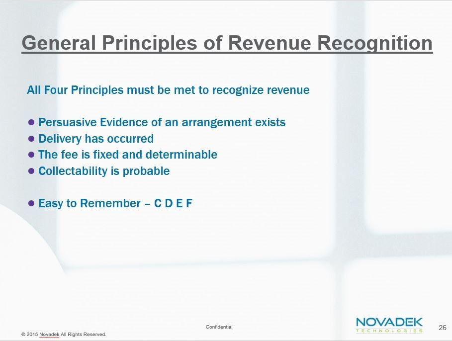 """Revenue Recognition Principle #1: """"There Is Evidence of an ..."""