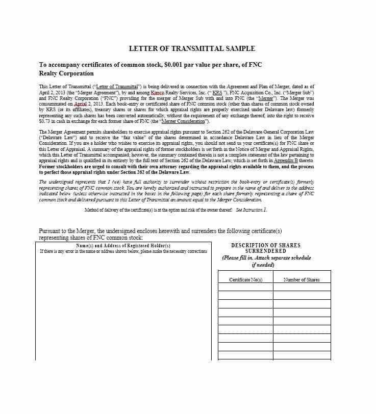 Document Transmittal Form Template | Enwurf.csat.co