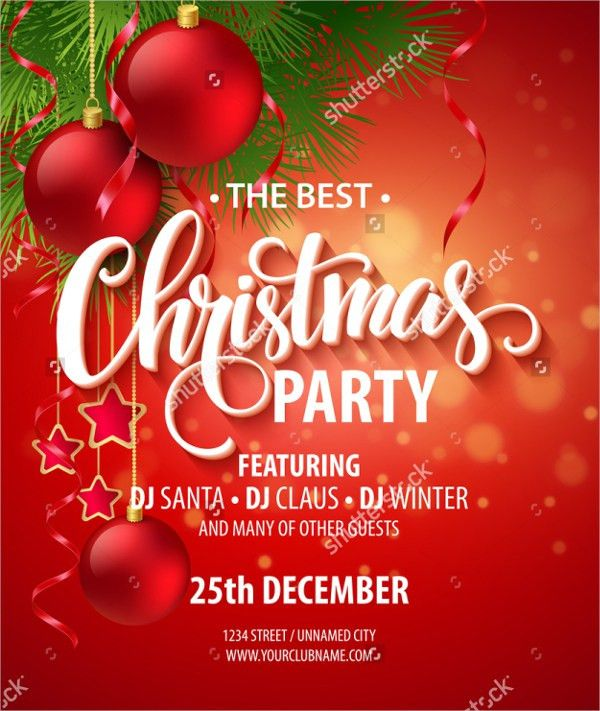 20+ Christmas Party Invitation Templates - UNLIMITED STOCK
