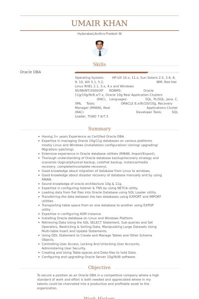 Associate Consultant Resume samples - VisualCV resume samples database