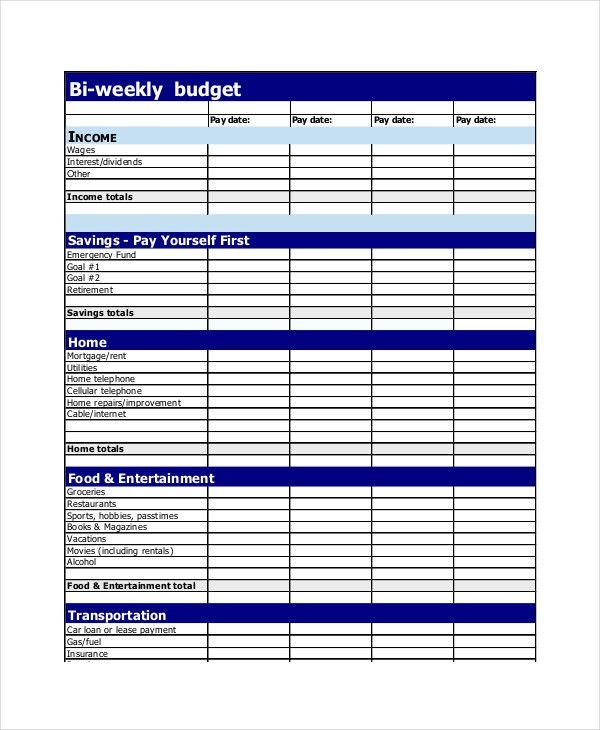 Budget Planner - 12+ Free Excel, PDF Documents Download | Free ...