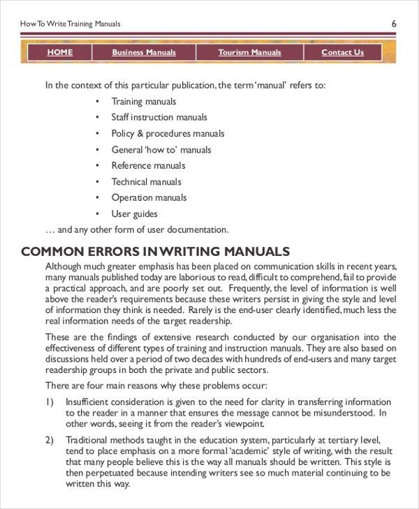 Training Manual Template Word Word Manual Template 5 Free Word – It Manual Templates to Download