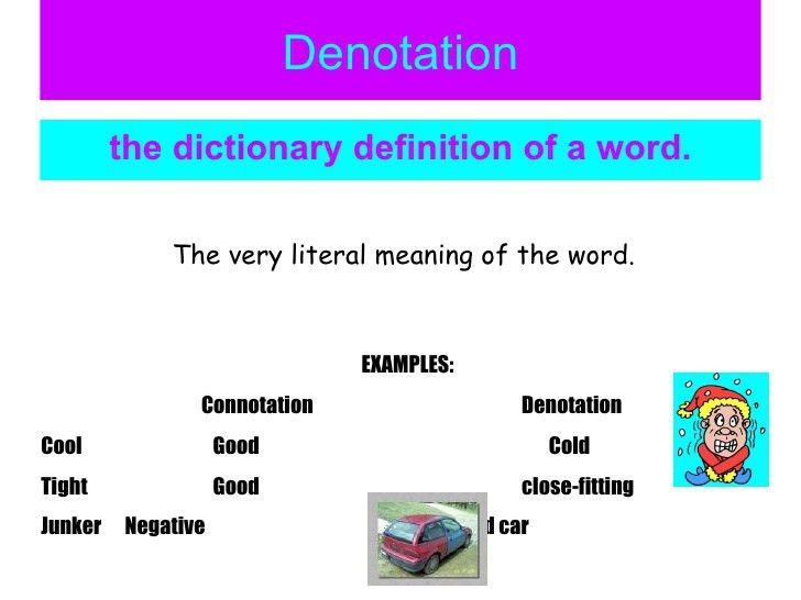 DENOTATION EXAMPLES - alisen berde