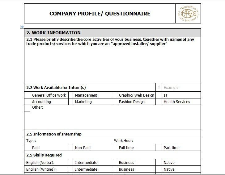 Awesome Business Profile Format Contemporary - Best Resume ...