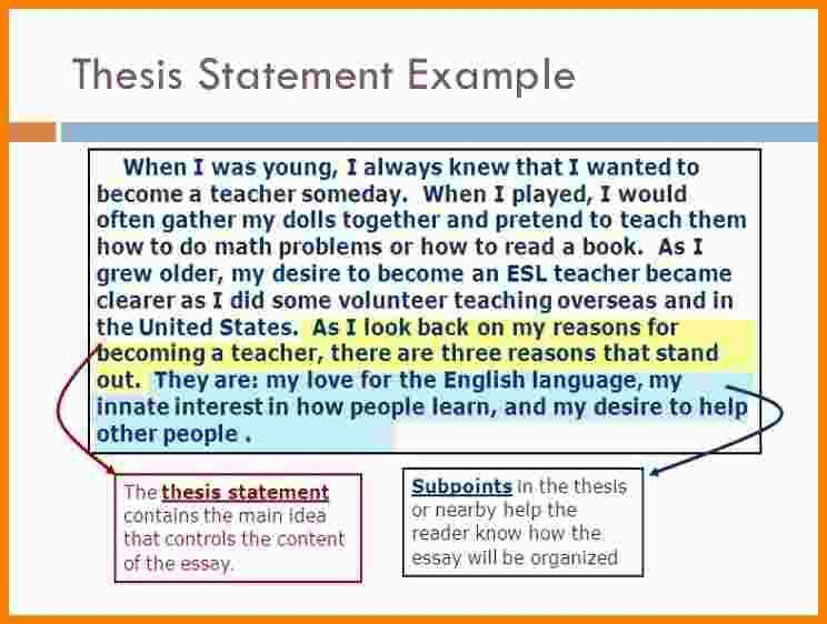 6+ thesis statement examples for research papers | Statement ...