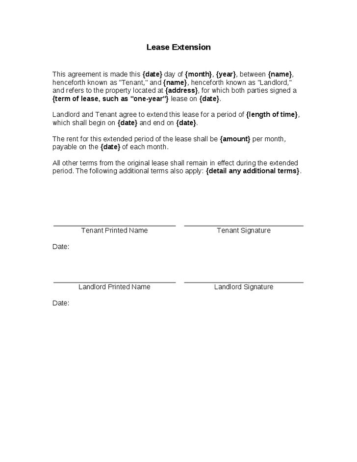 lease format – Free Online Form Templates