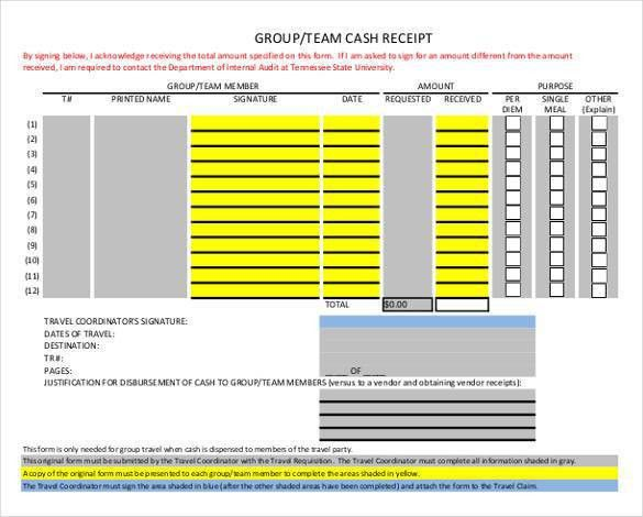 Money Receipt Template - 27+ Free Word, Excel, PDF Format | Free ...