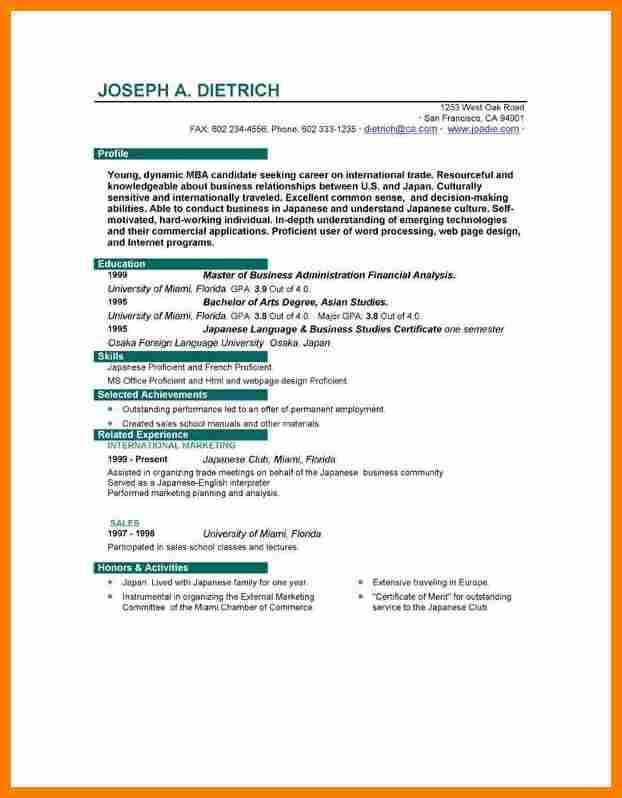 Job Resume Format Download