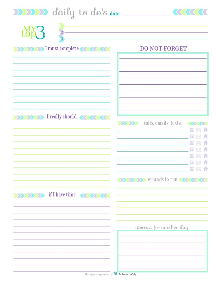 Day 27} To Do List Printables: For Those Times When You Don't Need ...