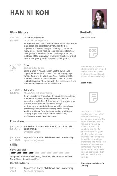 resume for teaching assistant cover letter examples for teacher - Teacher Assistant Cover Letter Examples