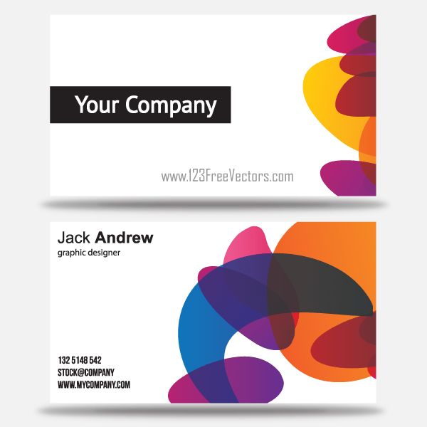 Free Colorful Business Card Templates | 123Freevectors