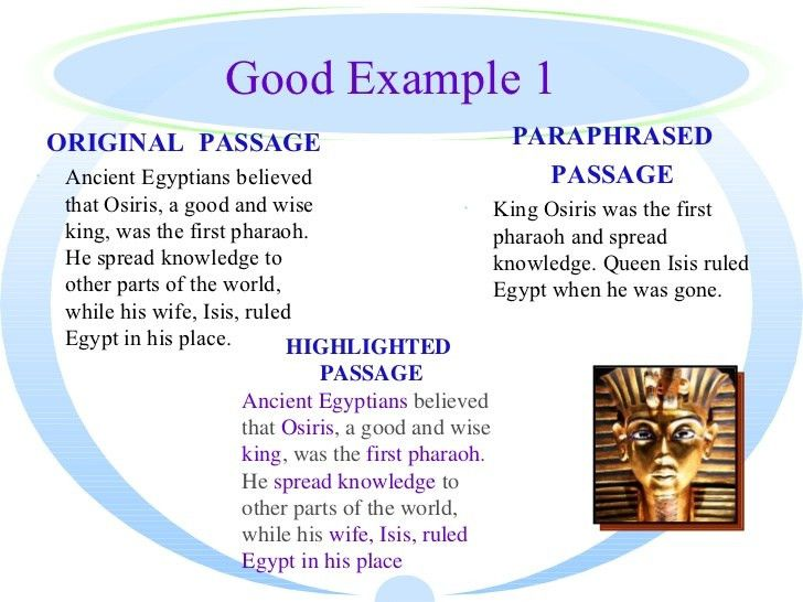 Teaching Paraphrasing to students