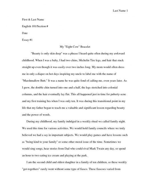 Good example essays