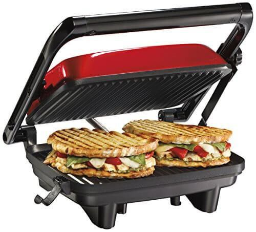 Hamilton Beach 25462Z Panini Press Gourmet Sandwich Maker ...
