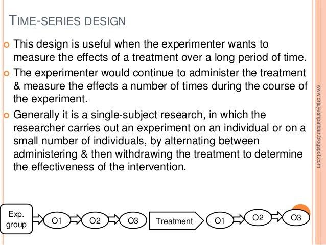Experimental research design
