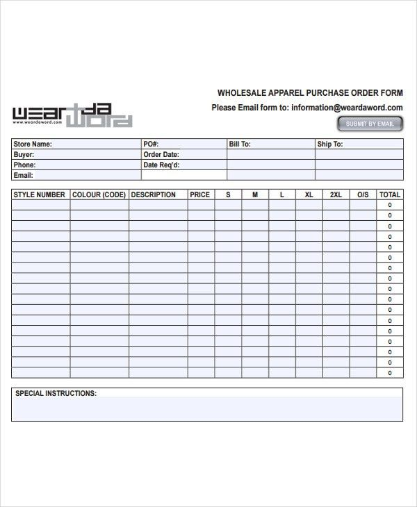 7+ Fashion Order Forms - Free Sample, Example Format Download ...