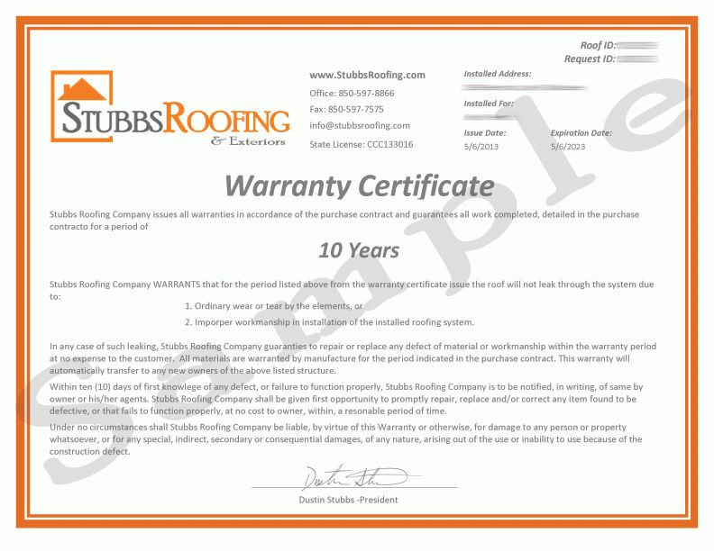 Sample Roofing Contract - Home Design Ideas and Pictures