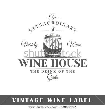 Set Wine Labels Elements Design On Stock Illustration 375207346 ...