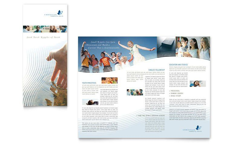 Christian Ministry Tri Fold Brochure Template - Word & Publisher