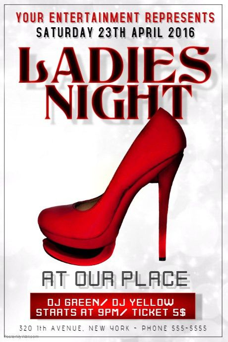Customizable Design Templates for Ladies Night | PosterMyWall