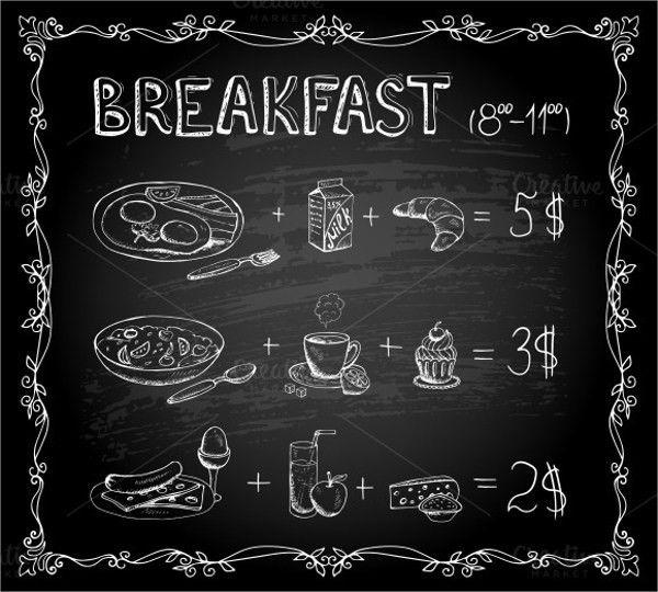 Sample Chalkboard Menu Template - 19+ Download Documents in PDF ...