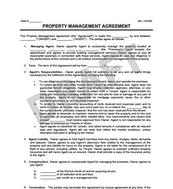 Property Management Agreement | Create an Property Management ...