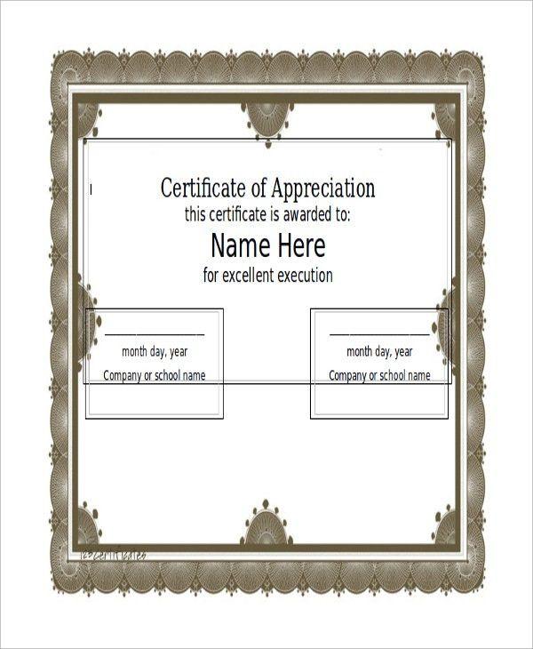 Certificate Sample in Word - 6+ Examples in Word