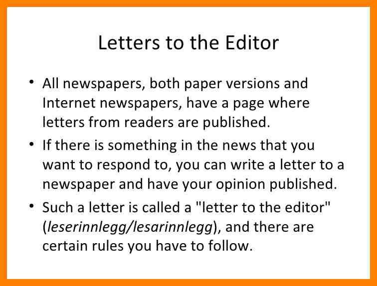 9+ examples of letters to the editor of a newspaper | fancy-resume