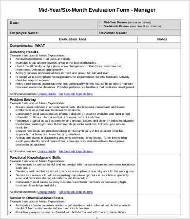 Employee Evaluation Form Template - 10+ Free Word, PDF Documents ...