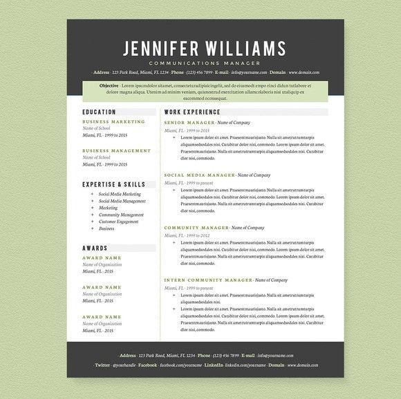 Check out Professional Resume Template Pkg. by JannaLynnCreative ...