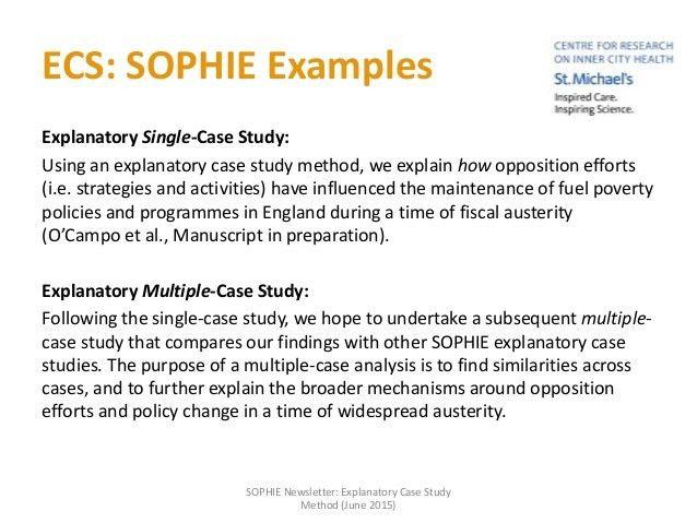 Explanatory Case Study (ECS) method: A Brief Summary