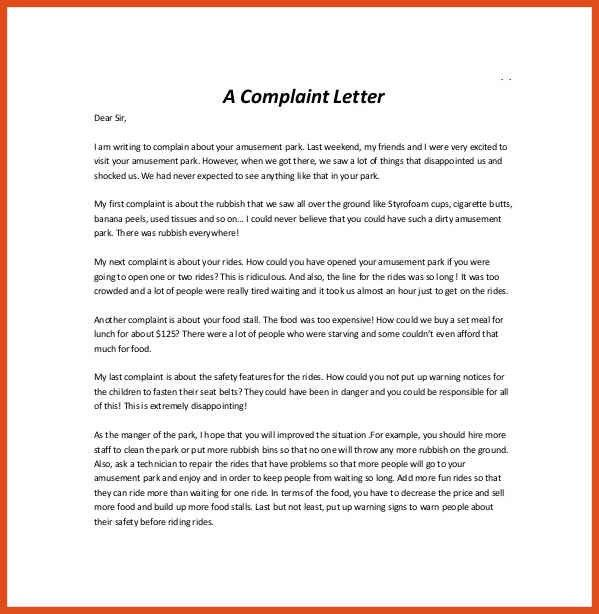 Complaint Letter Samples. Complaint Letter Samples Writing ...