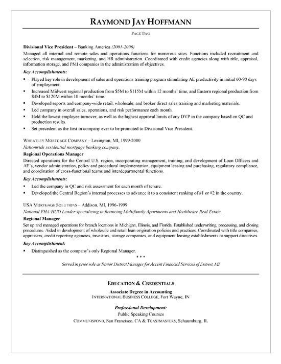 free bank manager resume example banking manager sample resume ...