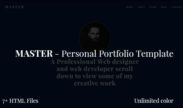 Master - Personal Portfolio Template by Creativepersonal | ThemeForest