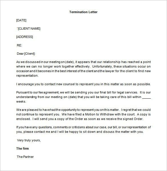 9+ Partnership Termination Letter Templates – Free Sample, Example ...