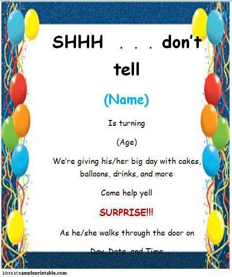 Template Birthday Party Invitation - vertabox.Com