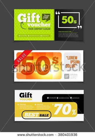 Gift Discount Voucher Food Restaurant Cafe Stock Vector 367634603 ...