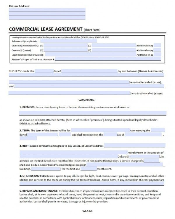Free Washington Commercial Lease Agreement | PDF | Word (.doc)